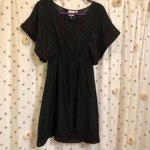 Anthro HD in Paris boho black dress/coverup